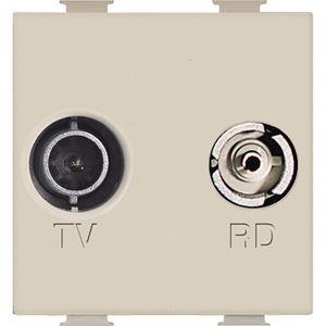 Bticino - Magic TV/R ctdoos kabelnetwerk Telenet 2 mod ivoor