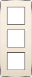 Niko, Drievoudige afdekplaat, Original Cream, 60 mm verticale centerafstand