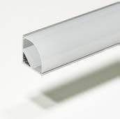 PROLUMIA - ECO-line, Aluminium hoekprofiel Rond 2m Opbouw, 16mm
