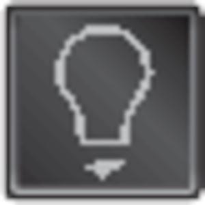Lampsymbool voor spuitwaterdichte opbouwcontroleschakelaars en spuitwaterdichte verlichtbare opbouwdrukknoppen