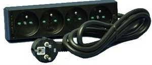 ABB Vynckier - Bloc multiprise 3x16A (2P+A) - Avec cordon - Noir