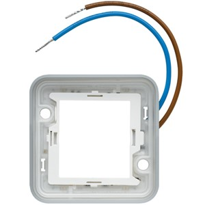 HAGER - VERLICHTINGSRING LED, ENKEL, BLAUW 250 V