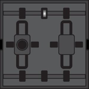 Niko, Busdrukknop met 2 bedieningstoetsen en één led voor signalisatie of verlichting