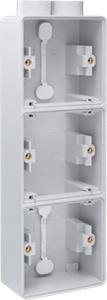 Niko, Hydro, drievoudige verticale opbouwdoos met één tweevoudige M20-ingang voor het inbouwen van drie functies