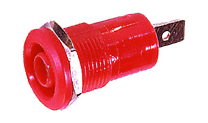 Elimex - R1-24B Banana socket with hexagone nut red