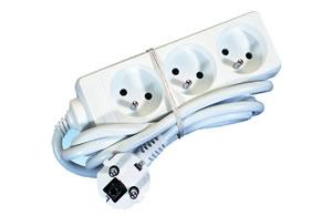 Elimex - KF-FB-03 AC Power strip 3x10/16A + 1,5m cord