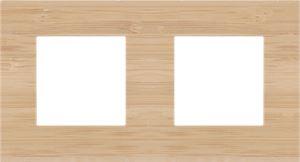 Niko, tweevoudige afdekplaat, Pure bamboo, 71 mm centerafstand