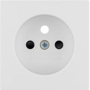 BERKER - Afwerkingsset voor wandcontactdoos met penaarde Berker Q.1/Q3 polarwit, fluweel
