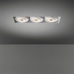 MODULAR - MINI MULTIPLE TRIMLESS FOR 3X LED GE BLACK