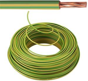 VOB kabel / draad 10 mm² Eca - Geel / Groen (H07V-R) - VOB10GG