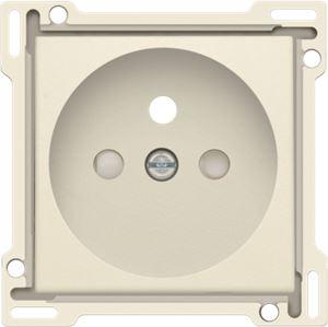Niko Original Cream, afwerking voor stopcontact met penaarde en kinderveiligheid, inbouwdiepte 28,5 mm