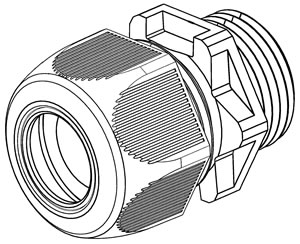 WISKA - ESKV 20 WARTEL SPRINT POLYAMIDE RAL7035 IP68 M20