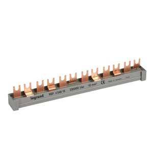 Legrand - Aansluitrail met vorken 2P/3F 12 modules - 10mm²