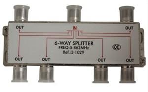 Elimex - 2246 6-way splitter