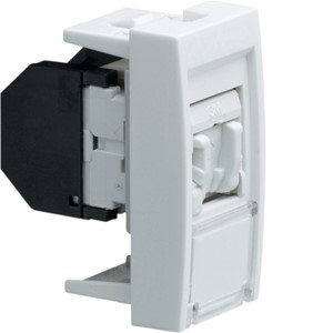 HAGER - systo stopcontact RJ45 Cat. 5e UTP, 1M, wit