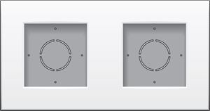 Niko, Tweevoudige opbouwkit voor opbouwmontage van 2 inbouwapparaten, Original White
