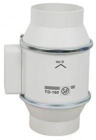 SOLER & PALAU - TD-160/100 N SILENT 230V50 VENT.G.2VIT.D100/160-130M3H