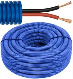 Tube précâblé - câble de haur-parleur - 2 x 2,5mm² Ø 16mm, 100 mètres - FLEX FEHIFI2X25