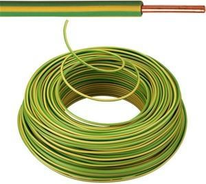 VOB kabel / draad 2,5 mm² Eca - Geel / Groen ( H07V-U ) - VOB2GG