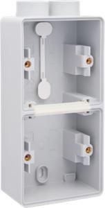 Niko, Hydro, dubbele verticale opbouwdoos met één tweevoudige M20-ingang voor het inbouwen van twee functies