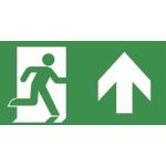 VAN LIEN - PP 320/51 Pictogramplaat - Nooduitgang rechtdoor of naar boven - ISO 7010