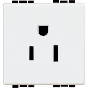 Bticino - LL - Stopcontact 2P+A 15A 125V blanc