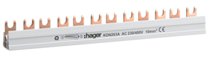 HAGER - Overbruggingsbaar 2P 63A met vorken 10mm² 12M