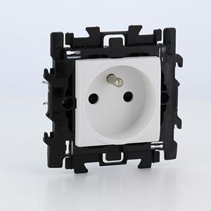 Bticino - LL Compleet contactdoos 2P+A 16A 250V - met spankl. - wit