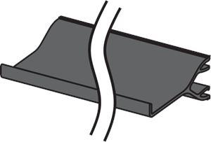 Cloison de séparation pour goulotte d'installation 110x50mm ou 160x50mm, longueur 2m