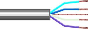 Elimex - VVT-4 Cable 4 cores grey, /m