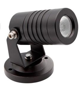 UNI-BRIGHT - SPOT LIGHT ZWART IP67 24VDC-CC 3W - RGB 30° - 80LM