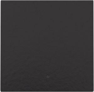 Niko Bakelite® piano black coated, Afwerkingsset met lens voor elektronische schakelaar of drukknop