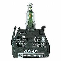 SCHNEIDER - LICHTBLOK - Ø 22 - GROEN INGEBOUWDE LED - 24 VAC/DC