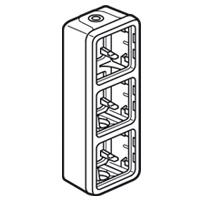 Legrand - Plexo opb.doos vert. 3 m. 2 ingangen grijs