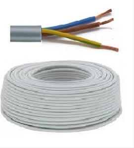Flexibele VTMB 3G1,5 kabel (H05VV-F) - per meter of op rol - VTMB3G15GR - Grijs