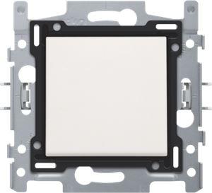 Interrupteur permutateur, socle, bornes à vis et set de finition white
