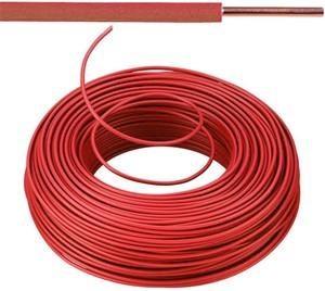 VOB kabel / draad 2,5 mm² Eca - rood ( H07V-U ) - VOB2RO