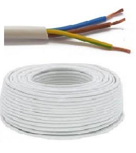 Flexibele VTMB 3G2,5 kabel (H05VV-F) - per meter of op rol - VTMB3G2WI - Wit
