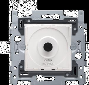 Socle pour variateur LED à bouton rotatif 4 - 200 W, 2 fils, fixation par griffes