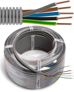 Tube précâblé - câble VOB - 5G6mm² Ø 25mm, 50 mètres - FLEX FE5G60