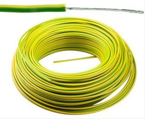 VTBst kabel / draad 0,75 mm² - Geel/Groen (H05V-K) - VTBST075GG