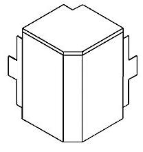GGK - FB 60x110, buitenhoek, grijs (7035)