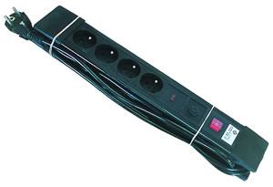 Elimex - Bloc multiprise 4X16A - avec interrupteur et protection 5M