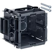 HELIA - Inbouw, inbouwdoos Q-range 60 x 60 x 65 mm met 4 schroefgaten en 2 schroeven bijgeleverd
