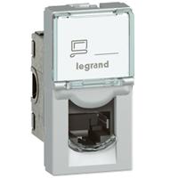 Legrand - RJ45 cat 6 UTP 1 mod alu LCS² Mosaic couleur alu