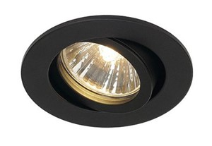 SLV LIGHTING - NEW TRIA 68 rond, indoor plafondinbouwlamp, QPAR51, zwart, 50W