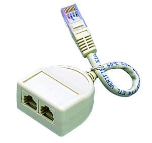 Elimex - 2-7504 T-split w/15cm wire RJ4