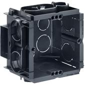 HELIA - Inbouw, inbouwdoos Q-range 60 x 60 x 50 mm met 4 schroefgaten