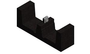 VAN DER VALK - Rubber tegeldrager 250x75x90mm voor ValkPro+ PVC