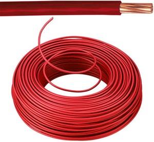 VOB kabel / draad 10 mm² - rood (H07V-R) - VOB10RO